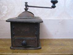 Vintage Coffee Grinder, Metal, Interesting Decor, Vintage Kitchen, Kitchen Decor. $29.00, via Etsy.