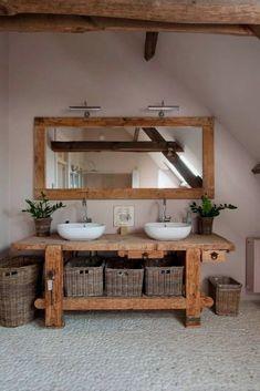 Holz Badezimmer Waschbecken Flusssteine, Wood bathroom sink river stones, – – This image. Rustic Bathroom Vanities, Rustic Bathroom Decor, Boho Bathroom, Rustic Bathrooms, Bathroom Furniture, Bathroom Interior, Small Bathroom, Rustic Vanity, Bathroom Ideas