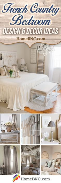 30 French Country Bedroom Design and Decor Ideas for a Unique and Relaxing Space is part of French bedroom Decored - French country bedroom decor ideas to rekindle the love for your space Find the best and most beautiful designs and get inspired! French Country Bedrooms, French Country Farmhouse, French Country Style, Country Style Homes, French Country Decorating, French Cottage, Country Chic, Rustic Style, French Country Bedding