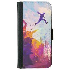 Parkour Urban Free Running Free-styling Modern Art iPhone 6/6s Wallet Case - diy cyo customize gift idea
