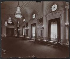New York City: East Ballroom at the Hotel Astor, Broadway and Street, circa 1904 New York Hotels, At The Hotel, New York City, Street, Broadway, Travel, Outdoor, Outdoors, Viajes