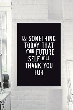 """Inspirational Quote Motivational Print """"Do Something Today"""" Black & White Subway Art Style Typography Print Wall Decor PRINTABLE DOWNLOAD on Etsy, $9.00"""