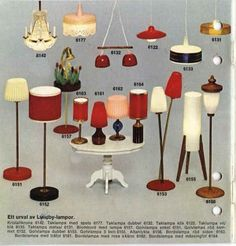 1970 Lundby catalogue; note the lamp illuminating flowers on a stand (#6157)