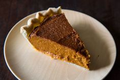 You Won't Believe it's Vegan Pumpkin Pie. By far, the best pumpkin pie I've ever eaten in my entire life. Seriously.  2.5 c. pumpkin puree, 1 c. cashews (soaked 3 hrs), 3/4 c. brown sugar, 2 T. tapioca starch, 2 T. molasses, 1 t. vanilla, 1 t. cinnamon, 1/2 t. dried ginger, 1/4 t. nutmeg, pinch of cloves. Bakes at 350, 35-40 min.