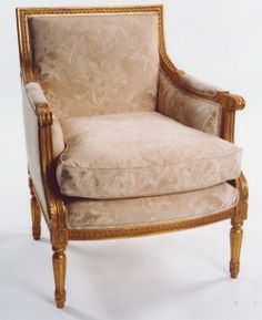 CH 1143 Lousi XVI Bergere Armchair by Mahogany Furniture