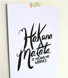 Free Printable: Hakuna Matata Quote