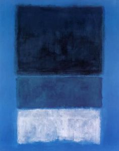 Mark Rothko No 14 White and Greens in Blue