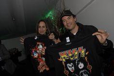 Final del concierto de Kiss con el equipo Mossolife.