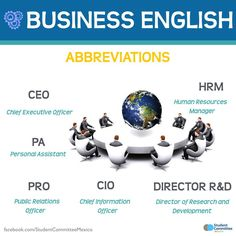 Business English / Abbreviations -         Repinned by Chesapeake College Adult Ed. We offer free classes on the Eastern Shore of MD to help you earn your GED - H.S. Diploma or Learn English (ESL) .   For GED classes contact Danielle Thomas 410-829-6043 dthomas@chesapeke.edu  For ESL classes contact Karen Luceti - 410-443-1163  Kluceti@chesapeake.edu .  www.chesapeake.edu