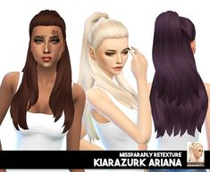 Miss Paraply: KiaraZurk Ariana solids • Sims 4 Downloads