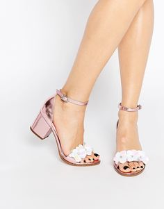 Image 1 of ASOS HEXAGON Embellished Heeled Sandals