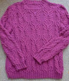 Схема арана для женского свитера / Вязание спицами / Вязание для женщин спицами. Схемы