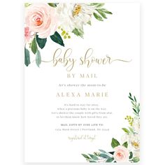 Floral Baby Shower by Mail Invitation | Forever Your Prints