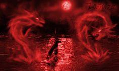 . Red Moon Rising, Blood Moon, Dear God, Nov, Auras