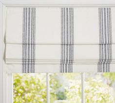 Riviera Stripe Cordless Roman Shade | Pottery Barn