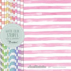Watercolor stripes digital paperBasic digital paperSimple   Etsy Basic Background, Paper Background, Simple Collage, Digital Scrapbook Paper, Graphic Patterns, Color Stripes, Embroidery Files, Collage Sheet, Textures Patterns