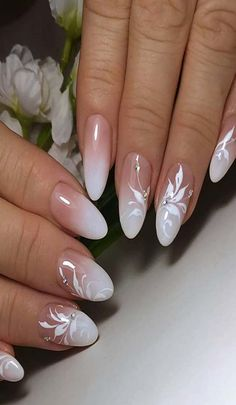 Simple but most elegent white floral nail art 2019 - Ruth Fe.- Simple but most elegent white floral nail art 2019 – Ruth Fer. Simple but most elegent white floral nail art 2019 – - Floral Nail Art, White Nail Art, Gel Nail Art, Gel Nails, Acrylic Nails, Nail Polish, Nail Nail, Coffin Nails, Elegant Nail Art