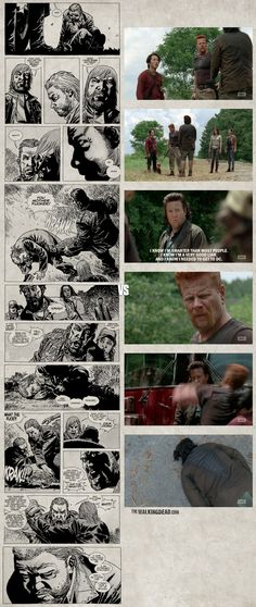 """The Walking Dead 5x05 """"Self Help"""" Show Vs Comic Walking Dead Comics, Walking Dead Comic Book, Walking Dead Tv Show, Walking Dead Season, Fear The Walking Dead, Twd Comics, Dead Zombie, Zombie Zombie, Talking To The Dead"""