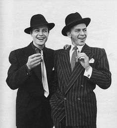 hey there gents <3 (Brando and Sinatra... photo by Avedon)