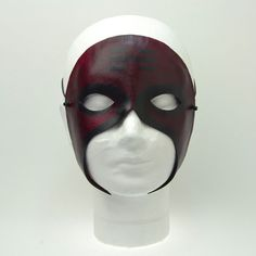 """""""Mask of Tears"""" Handmade Leather Masquerade Mask by Wendy Drolma - Basic Care for Beautiful Womans Halloween Masks, Halloween Face Makeup, Leather Mask, Leather Tooling, Cool Masks, Carnival Masks, Masks Art, 3d Prints, Super Hero Costumes"""