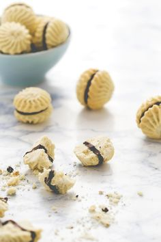 Biscotti burrosi vaniglia e cioccolato