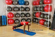 Step 5: Plank position. #DovettsBurpee #BiggestLoser