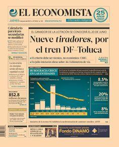 Nueve tiradores, por el tren DF-Toluca; el ganador se conocerá el 20 de junio | en nuestra #PrimeraPlana de este 5 de junio del 2014.   http://eleconomista.com.mx/industrias/2014/06/05/nueve-consorcios-pujaran-tren-mexico-toluca