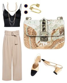 """Nude outfit"" by manon-bdm on Polyvore featuring mode, A.L.C., T By Alexander Wang, Valentino, Chanel, Marc Jacobs, Allurez et nude"