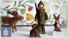 Jäger, Hirsch, Hase und Hund Tortendekoration Figuren aus Modellierfondant / Hunter, deer, rabbit and dog cake decoration figures gumpaste