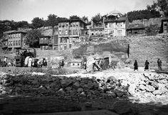 Atatürk Bulvarı'nın ilk etabı için yıkımlar yapılıyor (1930'lu yılların sonu. Zeyrek/Unkapanı)