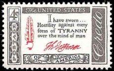 Thomas Jefferson Credo US Postage Stamp