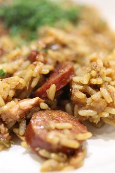 Jambalaya Recipe - leave out meat, swap rice to Slendier, scale down to 2 serves.