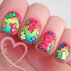 cdbnails: Nail Crazies Unite - Candy gummy bears! So stinking cute