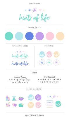 Pastel Brand Inspiration For Elizebeth Ellery // Branding, Photography and Website Design Logo Design, Badge Design, Brand Identity Design, Corporate Design, Brand Design, Favicon Design, Social Media Branding, Social Media Design, Site Web Design
