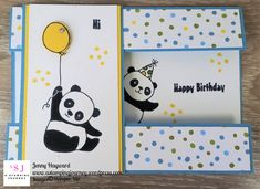 It's a Peekaboo Panda with the Party Pandas set. It is one of the Free choices for Sale-A-Bration and it is just the cutest set too. #partypanda #funfold #panelcard