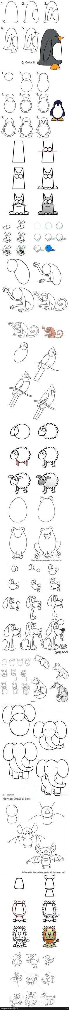 How to draw cute little animals
