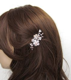 Crystal Flower And Vine Hair Accessory Jewelry by purplecookie911