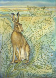 Hare on the Freshes (original painting and print)