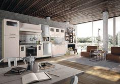 Retro Kitchen with 1950s Flare: St. Louis by Marchi Cucine | Retro ...