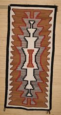 "Crystal Navajo Rug Weaving  26"" X 57""  Circa 1950  #B93"