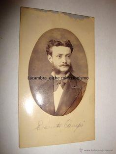 ANTIGUA FOTOGRAFIA ORIGINAL ALBUMINA, A. GARCIA FOTOGRAFO S.S REAL VALENCIA F.F.S.XIX CA.1875 LA250