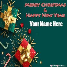 Write Name On Latest Merry Christmas And New Year Wishes Images, Welcome 2021 And Merry Happy Christmas Photo With Name, Online Create Customized Name Generator Option Merry Happy Christmas HD Wallpapers Download Free. Christmas Names, Christmas Photos, Merry Happy, Merry Christmas And Happy New Year, Christmas Day Celebration, New Year Wishes Images, Wedding Anniversary Quotes, Xmas Wishes, Happy Birthday Cakes
