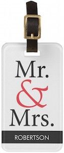 Personalized Mr & Mrs Luggage Tag