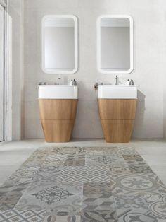 Floor tiles by Porcelanosa Dover Antique Matt Decor x 90 Bathroom Floor Tiles, Bathroom Toilets, Bathroom Renos, Wall And Floor Tiles, Bathroom Furniture, Wall Tiles, Bathrooms, Kitchen Tiles, Design Ikea