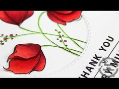 card making video tutorial:  Copic coloring and adding dimension to fowers ....