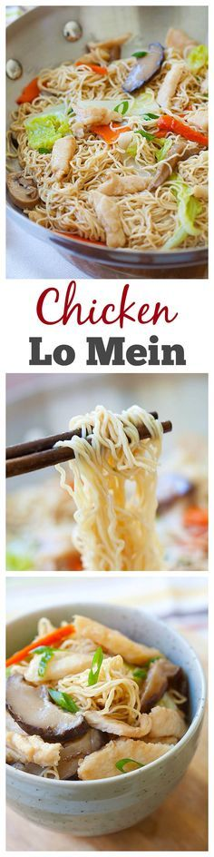 Chicken Lo Mein - Easy, healthy, non-greasy homeade recipe that is much better than Chinese takeout   rasamalaysia.com