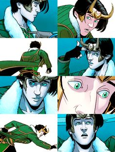 A compilation of panels featuring Loki's new look in Kieron Gillen's Young Avengers. I quite like it. :3
