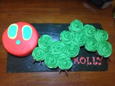 The very hungry caterpillar cake by Angell cakes