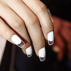 clear-tip nails.