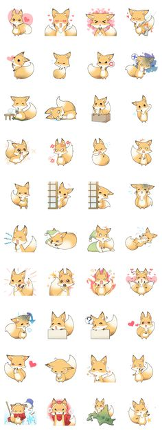 Girly fox - LINE Creators' Stickers